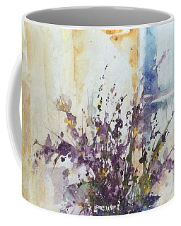Blue Vase Of Lavender And Wildflowers Aka Vase Bleu Lavande Et Wildflowers  Coffee Mug