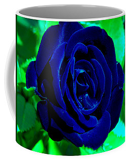 Blue Velvet Rose Coffee Mug by Samantha Thome