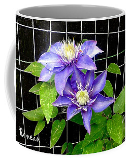 Coffee Mug featuring the photograph Blue Violet Clematis by Sadie Reneau