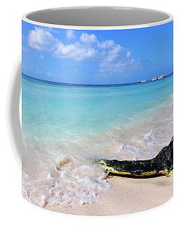 Blue Water And White Sand Coffee Mug