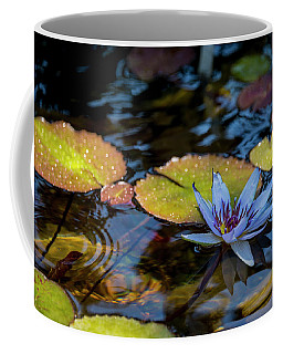 Blue Water Lily Pond Coffee Mug