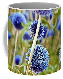 Blue Wild Thistle Coffee Mug