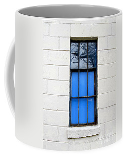 Blue Window Panes Coffee Mug by Sandra Church