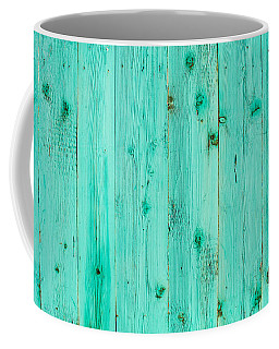 Blue Wooden Planks Coffee Mug by John Williams