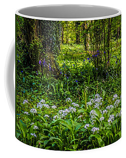 Bluebells And Wild Garlic At Coole Park Coffee Mug