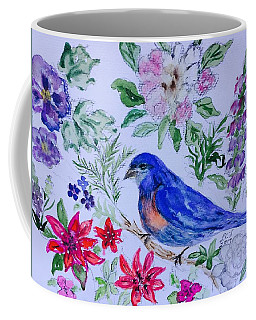 Bluebird In A Garden Coffee Mug