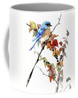 Bluebird In The Fall Coffee Mug