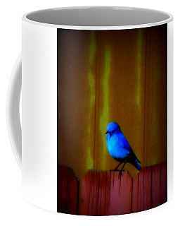 Coffee Mug featuring the photograph Bluebird Of Happiness by Karen Shackles