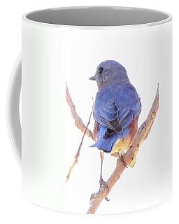 Bluebird On White Coffee Mug