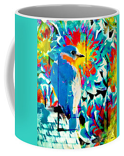 Bluebird Pop Art Coffee Mug by Tina LeCour