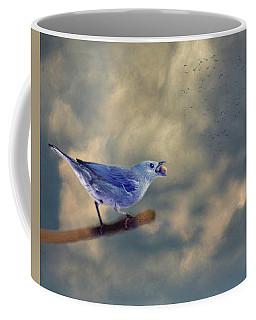 Bluebird With Berry Coffee Mug