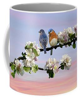 Bluebirds In Apple Tree Coffee Mug