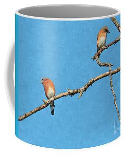 Bluebirds On A Crazy Limb Coffee Mug