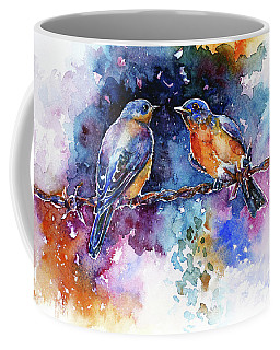 Bluebirds Coffee Mug by Zaira Dzhaubaeva