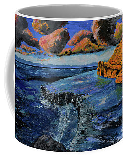 Blue,blue Ocean With Clouds Coffee Mug