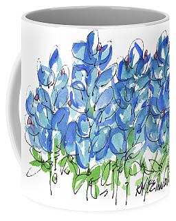 Bluebonnet Dance Watercolor By Kmcelwaine Coffee Mug