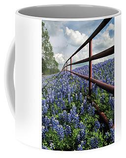 Bluebonnet Fenceline Coffee Mug