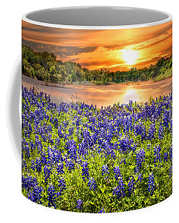 Bluebonnet Sunset  Coffee Mug