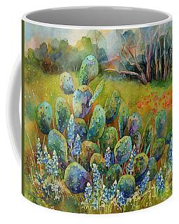 Bluebonnets And Cactus Coffee Mug