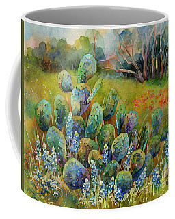 Bluebonnets And Cactus Coffee Mug