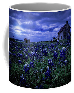 Coffee Mug featuring the photograph Bluebonnets In The Blue Hour by Linda Unger