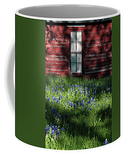 Coffee Mug featuring the photograph Bluebonnets In The Shade by David and Carol Kelly