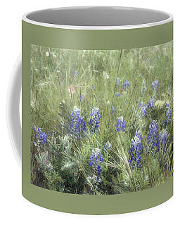Bluebonnets On Old Paper Coffee Mug by Ellen O'Reilly