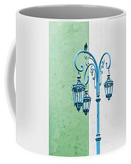 Blue,green And White Coffee Mug