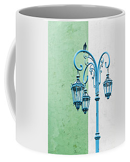 Blue,green And White Coffee Mug