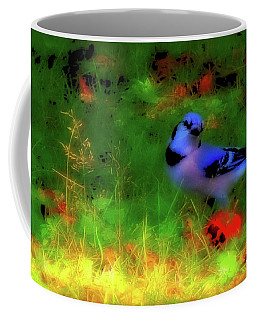 Bluejay-fall Approaching-a Rainbow Play Of Colors Coffee Mug