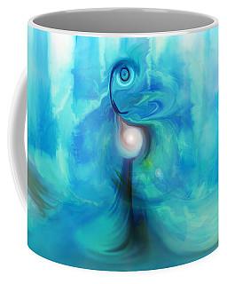 Coffee Mug featuring the digital art Bluescape by Linda Sannuti