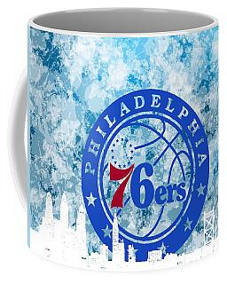 bluish backgroud for Philadelphia basket Coffee Mug