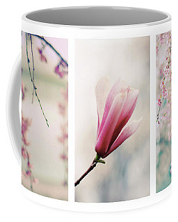 Blush Blossom Triptych Coffee Mug by Jessica Jenney