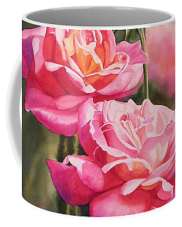 Blushing Roses With Bud Coffee Mug