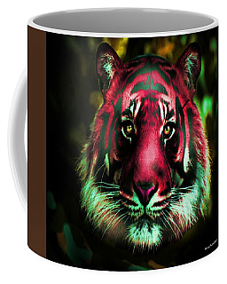 Coffee Mug featuring the photograph Blushing Tiger by George Pedro