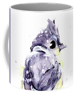 Coffee Mug featuring the painting Blustery by Dawn Derman