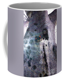 Coffee Mug featuring the photograph Boab Lorikeets by Cassandra Buckley