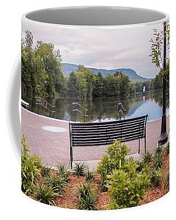 Coffee Mug featuring the photograph Boardwalk At Nashawannuck Pond by Sven Kielhorn