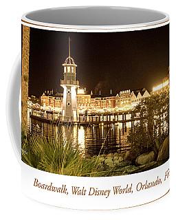 Boardwalk At Night, Walt Disney World Coffee Mug by A Gurmankin