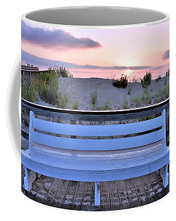 A Welcome Invitation -  The Boardwalk Bench Coffee Mug