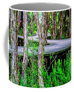 Boardwalk In The Woods Coffee Mug