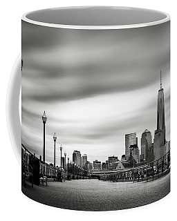 Boardwalk Into The City Coffee Mug by Eduard Moldoveanu