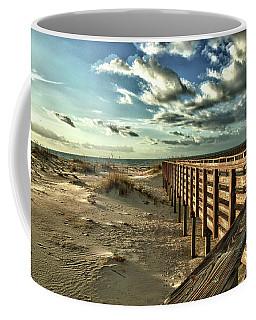 Boardwalk On The Beach Coffee Mug