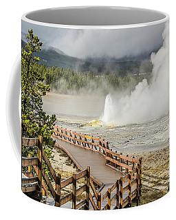 Boardwalk Overlooking Spasm Geyser Coffee Mug