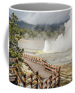 Boardwalk Overlooking Spasm Geyser Coffee Mug