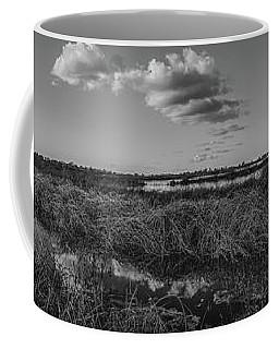 Boardwalk Panorama Monochrome Coffee Mug