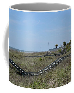 Coffee Mug featuring the photograph Boardwalks And Sand Dunes by Carol  Bradley