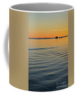 Boat And Dock At Dusk Coffee Mug