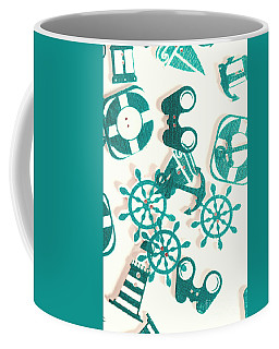 Boat Button Harbour Coffee Mug