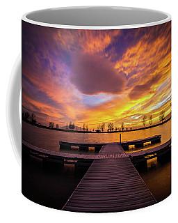 Boat Dock Sunset Coffee Mug